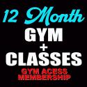 12 MONTH GYM + CLASSES MEMBERSHIP